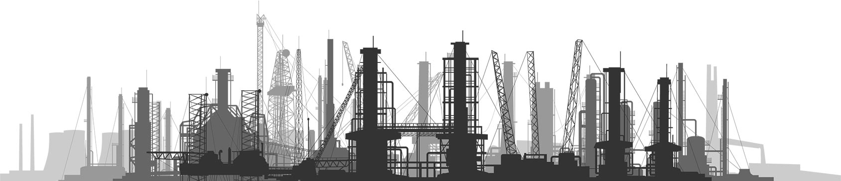 Industrial City Black and White